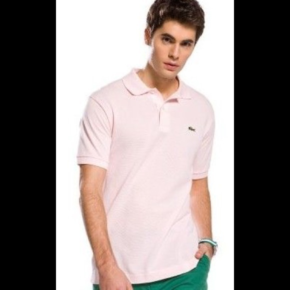 91047091 Men's Lacoste Polo Shirt in Pale Pink